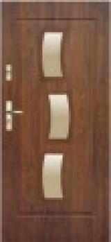 Drzwi stalowe KMT Plus, zewnętrzne przeszklone, tłoczenie Xs3, rozmiar 90 z ościeżnicą 10 CP (1szt)